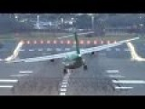 Crosswind Turboprop Landings In Birmingham, UK