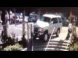 Car Almost Slams Into Mum And Baby