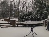 Cool Time Lapse Of Snowfall