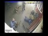 CCTV Footage Shows Pro Russian Seperatists Fighting Each Other Over Argument In Eastern Ukraine