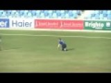 Cricket Player Is Tough, Loses Artificial Leg And Still Makes The Play