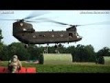 CH-47 CHINOOK IN ACTION Chinook Helicopter Lifting And Transporting BIG LOAD - CODE 1079