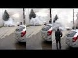 Car Explodes In Smoke
