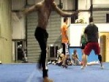 Cheerleader Can't Perform Back Handspring
