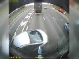 Car Got Wedged In Front Of A Lorry