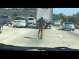 Cunt Skateboarder On Freeway - Squish This Worthless Prick!