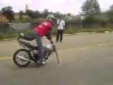 Can You Try To Do That With Your Motobike Without Front Wheel