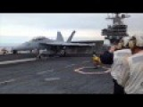 Close View F A-18 Hornet Combat On Carrier USS Ronald Reagan