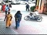 Chain Snatched From A Woman On A Moving Bike!