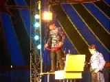 CIrcus Performer Falls While Juggling