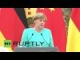 China Encourages Merkel To Make Germany Center Of Europe