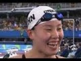 Chinese Swimmer Fu Yuanhui Is Excited About Her Time On 100m Backstroke - Rio 2016 Olympics