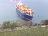Cameras Roll As Hansa Containership Runs Aground In Hong Kong – VIDEOS