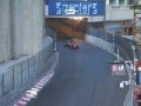 Car Goes Airborne At The 2012 Monaco GP3 Race