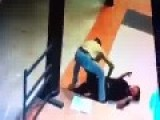 Cowardly Robber Brutally Kicks Victim In The Head