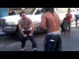 Crazy Tattooed Dude Invites For STREET FIGHT - San Francisco - 2014 - UNCUT