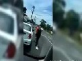 Cat Fight! Watch Two Girls Battle It Out In Front Of Traffic Light