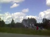 Car Crash Nearly Takes Out Spectators