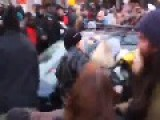 Car Drives Through Crowd Of Protesters