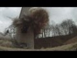 Demolition Of 120m Chimney Goes Wrong HD Video