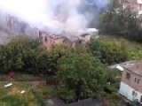 District Court Burned In Makeevka Hit By An Artillery 18.08.2014
