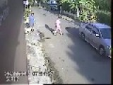 Driver Runs Over Dog By A Half Truck