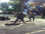 Double Knockout Outside Hollywood Club Avalon