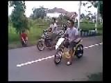 Drag Race Yamaha Mio Vs Kawasaki Ninja