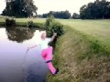Drunk Golf Swing Falls Into Water