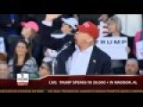 Donald Trump Spots HUGE Threat Overhead In Madison, Alabama