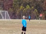 Deer Scores A Goal During A Soccer Game