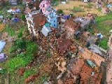 Drone Video Shows Earthquake Damage In Lubhu, Nepal
