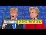Donalald Trump Hillary Clinton 1st Debate HIGHLIHTS