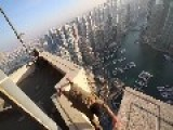 Daredevil Plays On Edge Of Tall Skyscraper