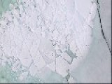 Drone Shows Stunning Footage Of Blue Ice On Lake In Ontario, Canada