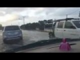 Drivers Tackle Heavy Flooding In Port Noarlunga SA