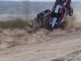 DOUBLE TROPHY TRUCK RACE CRASH