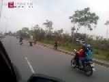 Driving Motorbike With Legs