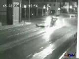 Drunk Driver Smashes Traffic Light