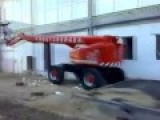 Dumbass Gets Ejected From A Boom Lift