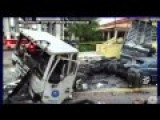 Dashcam Records Truck's Crash Off 100 Ft Bridge