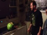 DRUNK Tries To IMPRESS Girls By SMASHING A MELON With His Head = WRONG! =