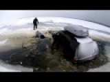 Driving On Ice Isn't Always A Good Idea: These Guys Found Out The Hard Way