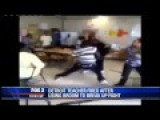 Detroit Student Violent Classroom Brawl, Teacher Breaks Up Fight With Broom, Gets Fired