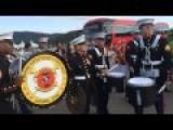 Drum Battle Between Marines And Korean Counterparts