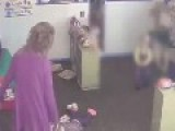 Day Care Worker Caught Kicking Child In Head