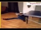 Drunk Fails Men With Table