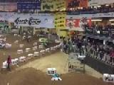 Dirtbike Lands On Fallen Rider's Head