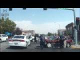 Dashcam Shows Idaho Police Chase And Six Vehicle Crash