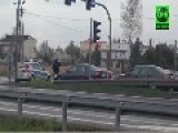 Dramatic End Of Car Chase In Poland